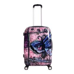 NeoCover Traveling Butterfly 26-inch Hardside Spinner Upright Suitcase