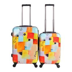 Neo Cover Hardside Luggage Spinner 2-Piece Set (22in, 26in) Notes Squared