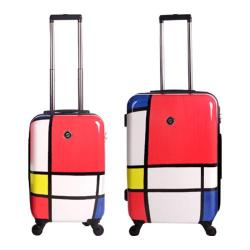 Neo Cover Hardside Luggage Spinner 2-Piece Set (22in, 26in) Primary Color Block