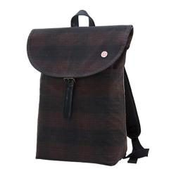 Token Bergen Waxed Backpack (Medium) Dark Brown Plaid