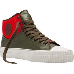 PF Flyers Center Hi Coated Textile Combat/Orange Canvas/Coated Textile