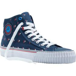 PF Flyers Center Hi Navy/White/Red Canvas