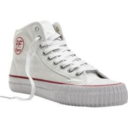 PF Flyers Center Hi White/White Canvas/Red