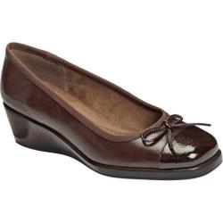 Women's A2 by Aerosoles Tembassy Brown Faux Leather/Faux Patent/Fabric
