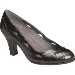 Women's Aerosoles In Shape Black Leather