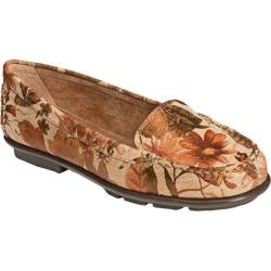 Women's Aerosoles Nu Day Taupe Floral Printed Leather