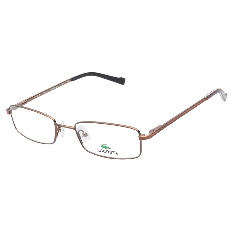 e50d59fbe80 Lacoste 2129 210 Satin Brown Prescription Eyeglasses on PopScreen
