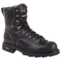 Men's Georgia Boot G029 8in Gore-Tex� Comfort Core Low Logger CT Black Full Grain Leather