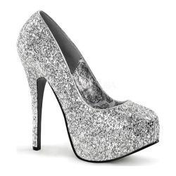 Women's Bordello Teeze 06G Silver Glitter