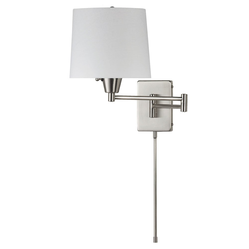 Dainolite Single-light Chrome Swing Arm Wall Lamp