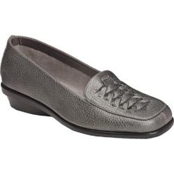 Women's A2 by Aerosoles Alabaster Dark Silver Metal Faux Leather