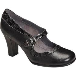 Women's A2 by Aerosoles Dice Role Black Combo Faux Leather/Snake Print Faux Leather