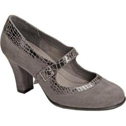 Women's A2 by Aerosoles Dice Role Grey Combo Faux Suede/Alligator Print Fabric
