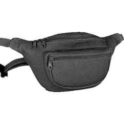 David King Leather 403 Two Zip Waist Pack Black