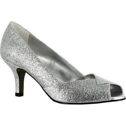 Women's Easy Street Ravish Dance Flex Silver Glitter Polyurethane