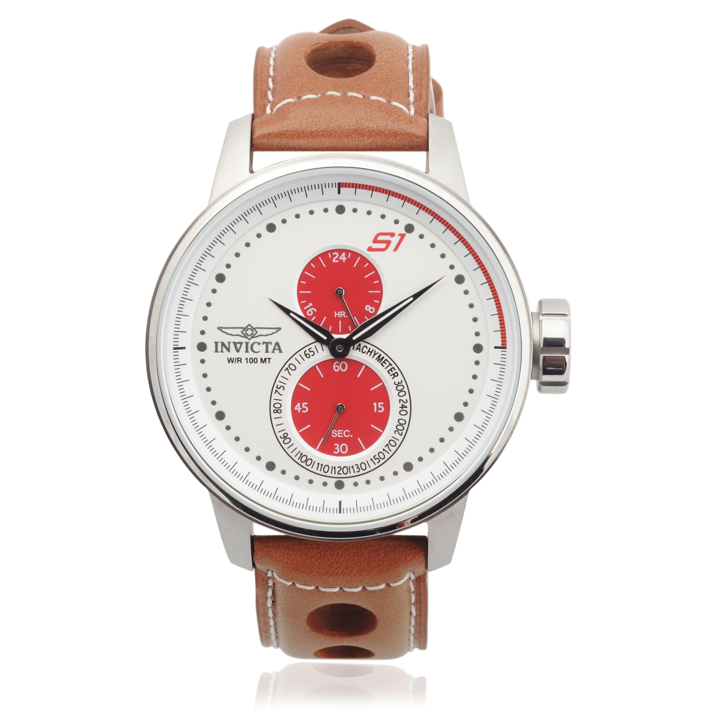 Invicta Men's 16018 Genuine Leather 'Rally' Quartz Watch