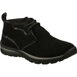 Men's Skechers Relaxed Fit Superior Up Word Black