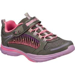 Girls' Skechers Sparkle Lites Lite Kick II Twisty Kicks Gray/Multi