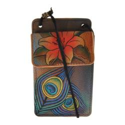 Women's Anuschka Phone/Camera Case/Wallet On A String Peacock Lily
