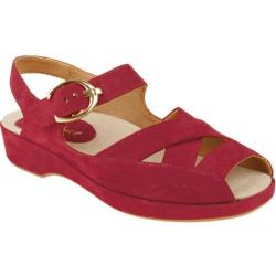Women's Earthies Malina Bright Red Suede