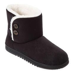 Women's Dearfoams Mixed Material Boot Black