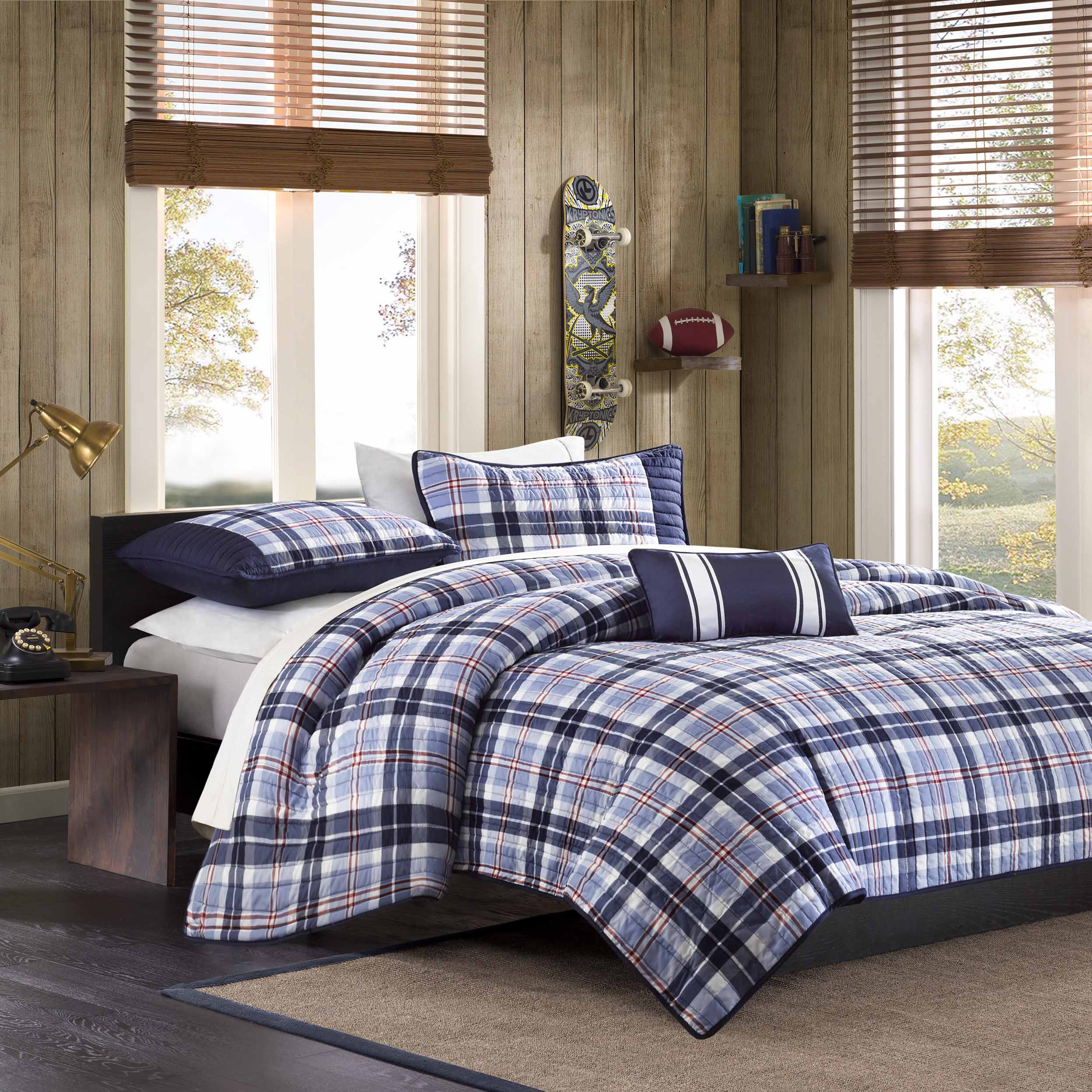 Mizone Alton Plaid Coverlet Set