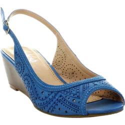Women's Beston Rise-01 Blue Faux Leather