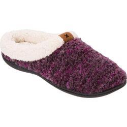 Women's Dearfoams Bouclé Knit Clog Purple