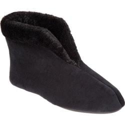 Women's Dearfoams Microfiber Velour Bootie Black