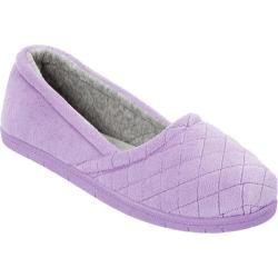 Women's Dearfoams Microfiber Velour Espadrille Pretty Purple