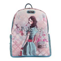 Women's Nicole Lee Daisy Print Backpack Blue