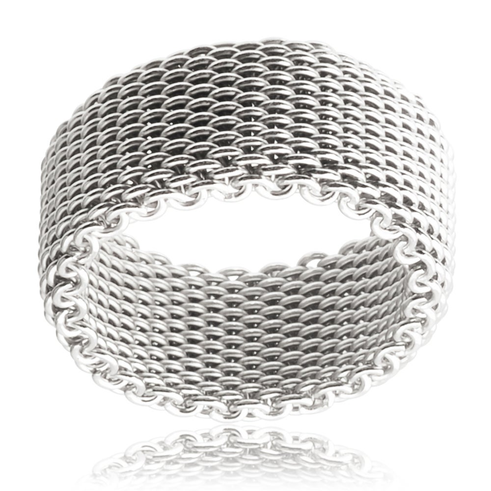 Tressa Collection Sterling Silver Mesh Band (10 mm)