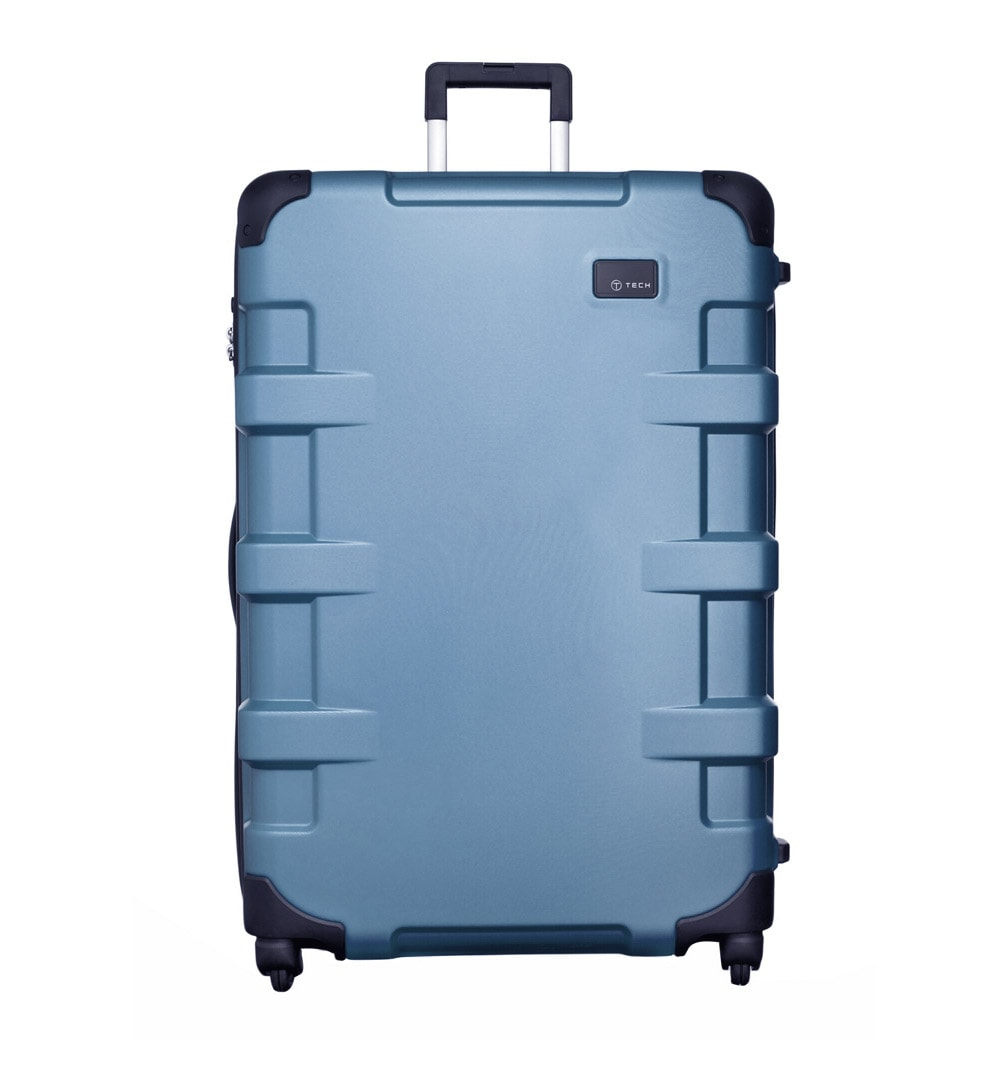 T-Tech by TUMI Cargo Steel Blue 32-inch Large Hardside Spinner Upright Suitcase