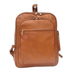 Piel Leather Front Pocket Computer Backpack 2362 Saddle Leather