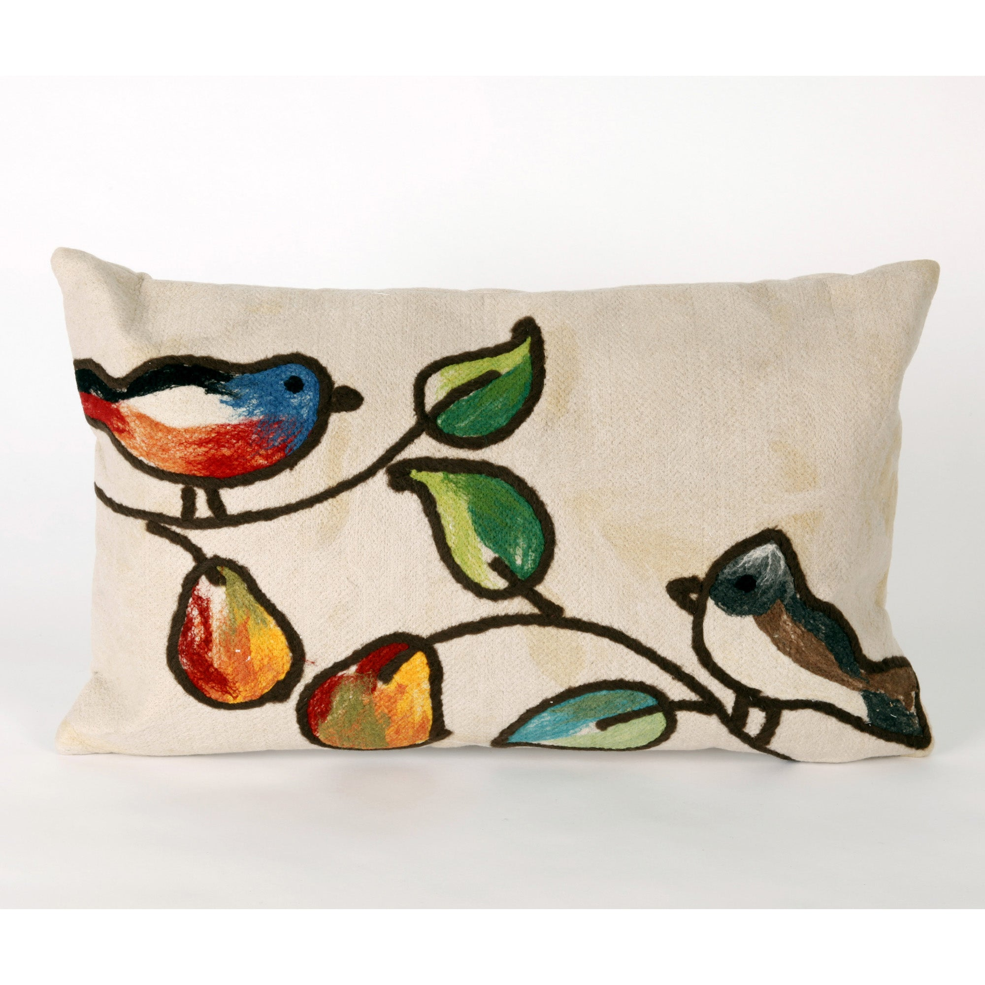 Birds In Pear Tree Decorative Throw Pillow