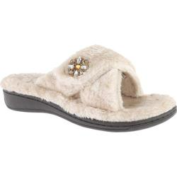 Women's Vionic with Orthaheel Technology Relax Luxe Slipper Taupe