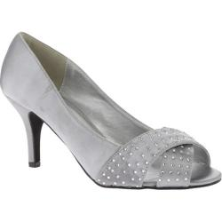 Women's Annie Lillian Silver Satin