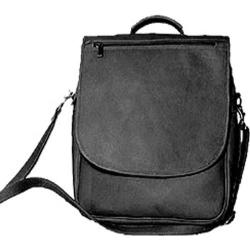 David King Leather 116 Vertical Eexpandable Portfolio Backpack Black