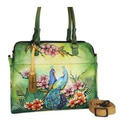 Women's Anuschka Triple Compartment Notebook/Tablet Organizer Passionate Peacocks