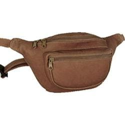 David King Leather 403 Two Zip Waist Pack Cafe