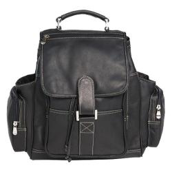 David King Leather 8330 Deluxe Top Handle XL Backpack Black