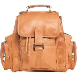 David King Leather 8330 Deluxe Top Handle XL Backpack Tan