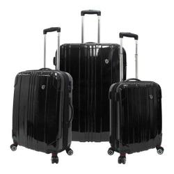 Traveler's Choice Sedona 3-Piece Expandable Spinner Luggage Set Black