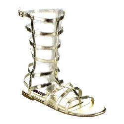 Women's Wild Diva Roman Gold Faux Leather