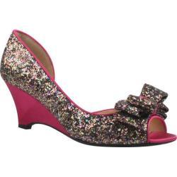 Women's J. Renee Chrissy Fuchsia Multi Glitter Fabric