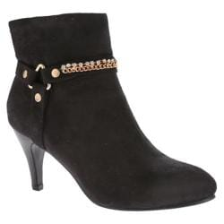 Women's Annie Sleek Black Suede