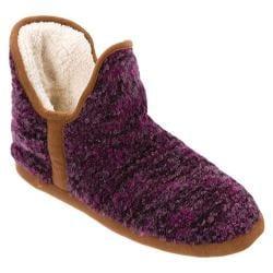 Women's Dearfoams Boucl� Knit Boot Purple