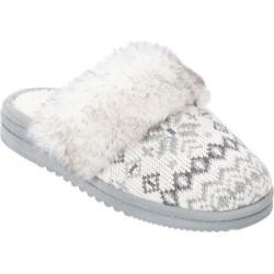 Women's Dearfoams Sweater Knit Scuff White Multi
