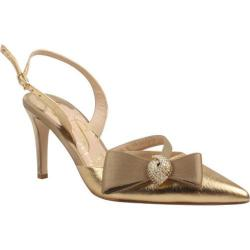 Women's J. Renee Ditz Gold Metallic Nappa