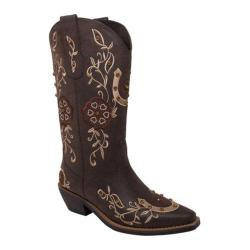 Women's AdTec 8613 13in Western Pull On Brown Faux Leather
